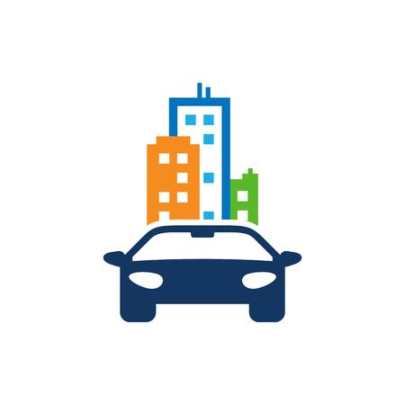 Automotive Town Logo Icon Design Çizim