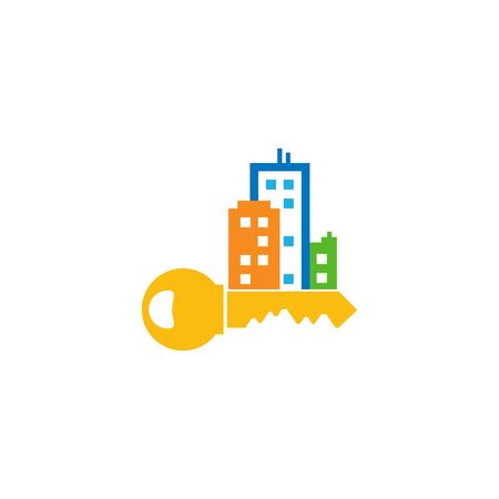 Key Town Logo Icon Design
