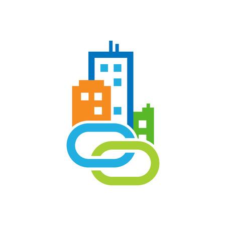 Connect Town Logo Icon Design