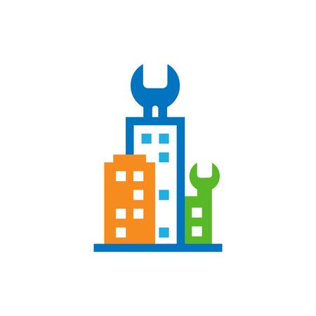 Repair Town Logo Icon Design