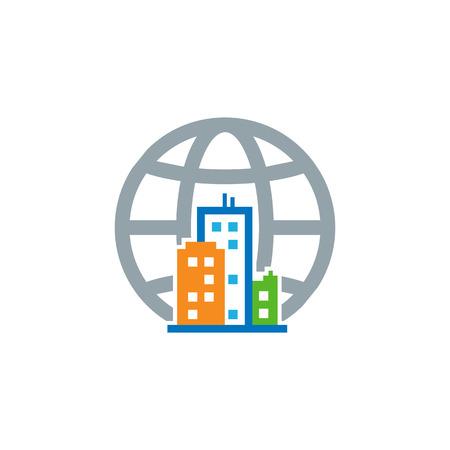 Globe Town Logo Icon Design