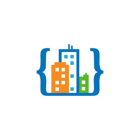 Code Town Logo Icon Design