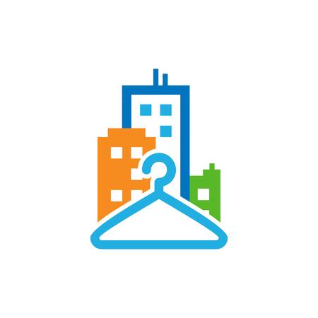 Laundry Town Logo Icon Design