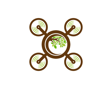 Fly Tree Logo Icon Design