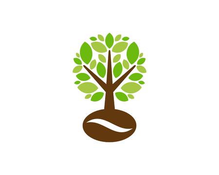 Coffee Tree Logo Icon Design