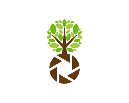 Lens Tree Logo Icon Design