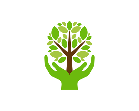 Support Tree Logo Icon Design Stock Vector - 102230745