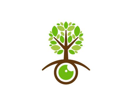 Look Tree Logo Icon Design Ilustração