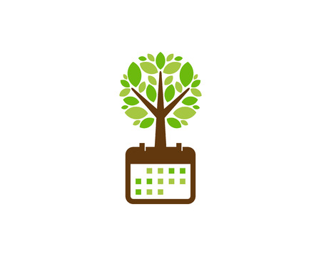 Date Tree Logo Icon Design