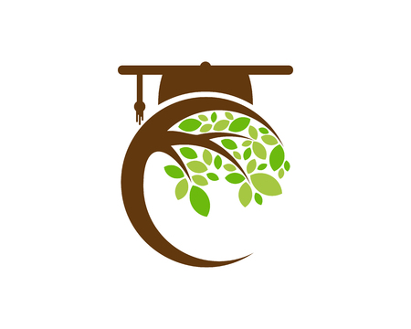 Diseño de icono de logotipo de árbol de escuela Logos