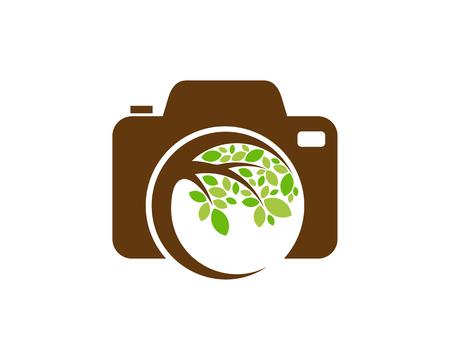 Photo Tree Logo Icon Design Stock Illustratie