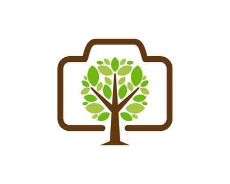 Camera Tree Logo Icon Design
