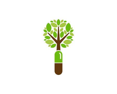 Drug Tree Logo Icon Design Stock Illustratie