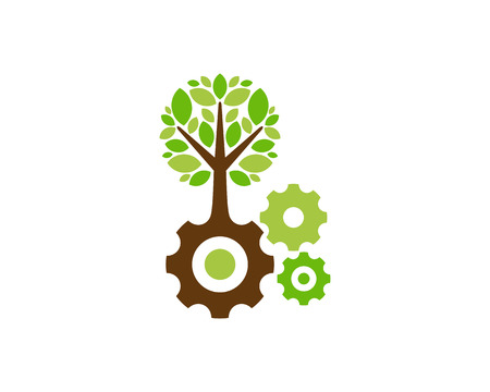 Tool Tree Logo Icon Design