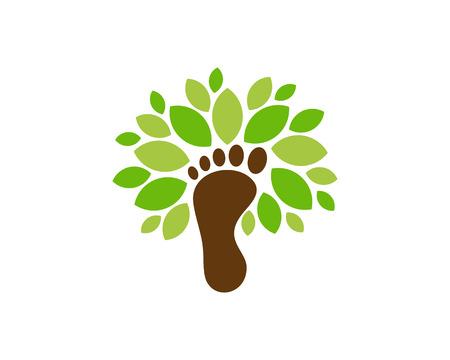 Foot Tree Logo Icon Design