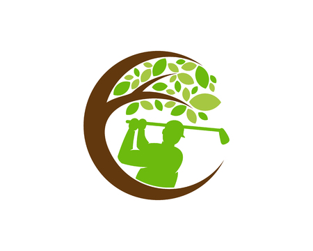 Golf Tree Logo Icon Design Foto de archivo - 102230848