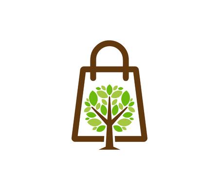 Shop Tree Logo Icon Design