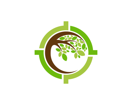 Target Tree Logo Icon Design