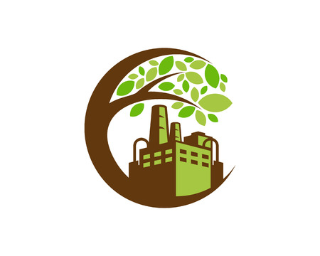 Industrial Tree Logo Icon Design