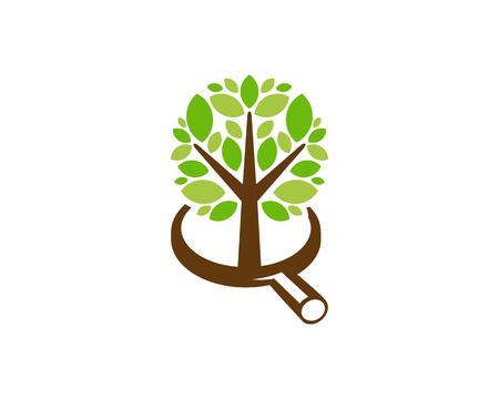 Browse Tree Logo Icon Design Ilustração