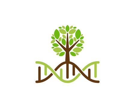 Diseño de icono de logotipo de árbol de adn