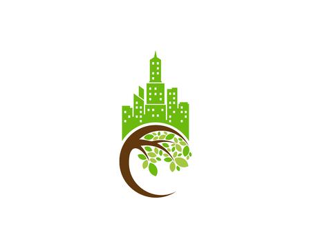 City Tree Logo Icon Design
