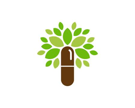 Medicine Tree Logo Icon Design Stock Illustratie