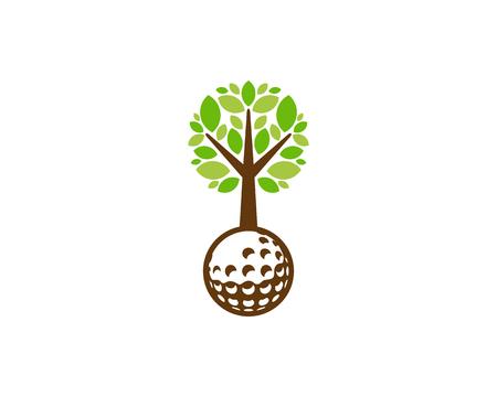 Golf Tree Logo Icon Design