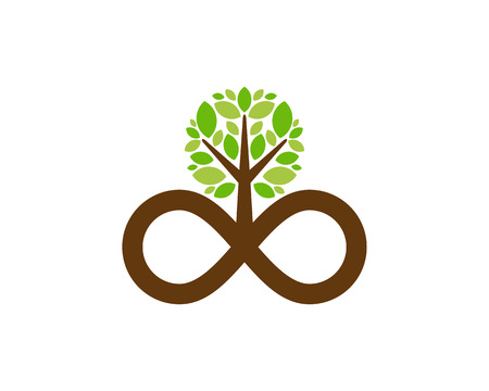 Infinity Tree Logo Icon Design