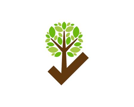 Check Tree Logo Icon Design