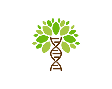 Création d & # 39; icône de logo ADN Tree