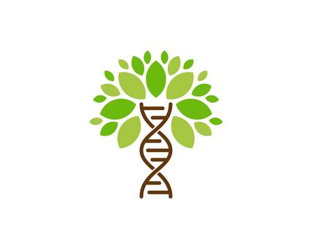 DNA-boom embleemontwerp pictogram