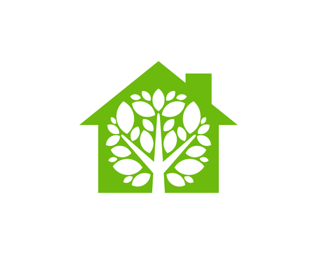 House Tree Logo Icon Design