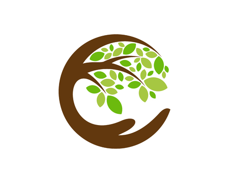 Care Tree Logo Icon Design Ilustracja