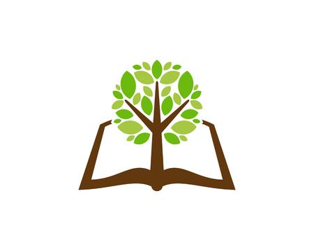 Page Tree Logo Icon Design Illustration