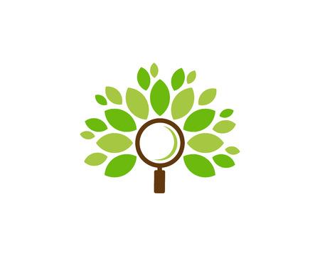 Search Tree Logo Icon Design