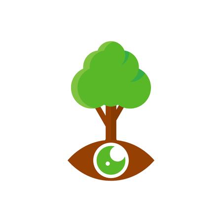 Vision Tree Logo Icon Design