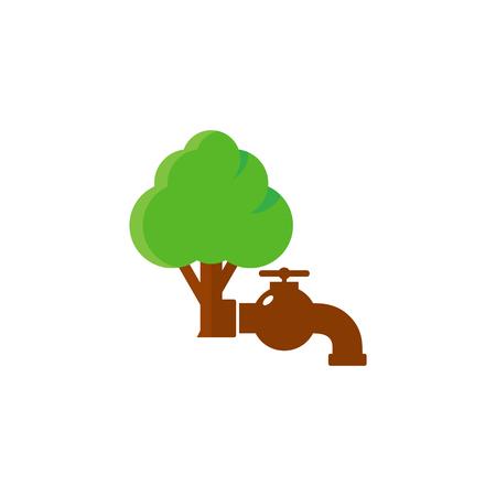 Plumbing Tree Logo Icon Design
