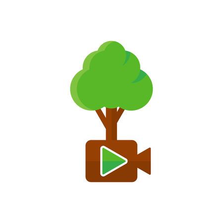 Video Tree Logo Icon Design