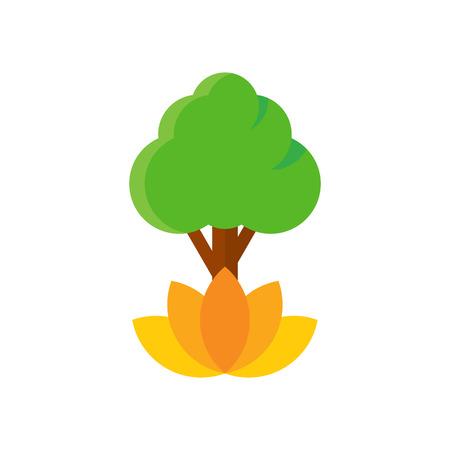 Lotus Tree Logo Icon Design