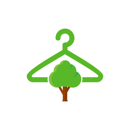 Laundry Tree Logo Icon Design Illustration