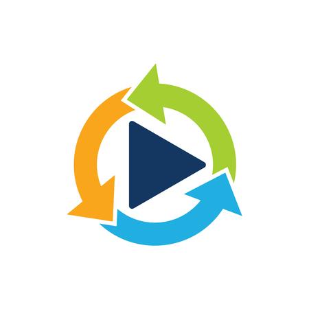 Recycle Video Logo Icon Design Banco de Imagens - 102231458