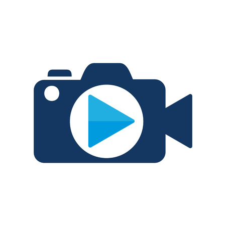 Camera Video Logo Icon Design Vettoriali