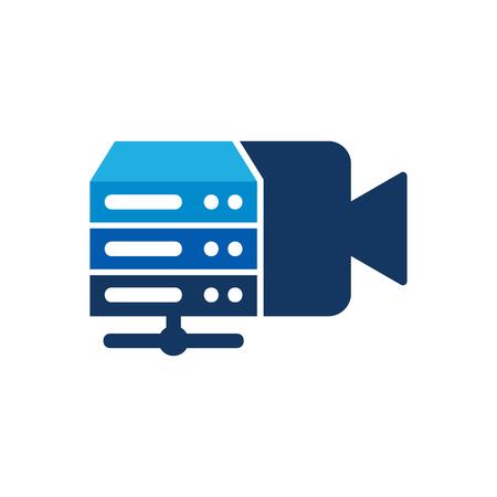 Server Video Logo Icon Design