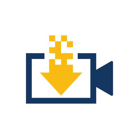 Télécharger la conception d'icône de logo vidéo