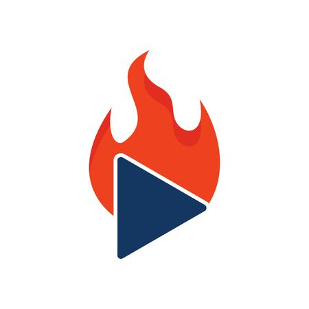 Burn Video Logo Icon Design