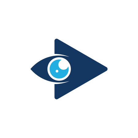 Vision Video Logo Icon Design