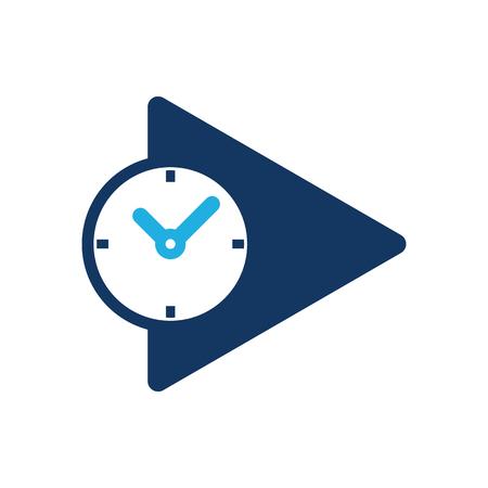 Time Video Logo Icon Design Foto de archivo - 102231740