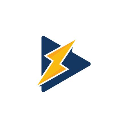 Energy Video Logo Icon Design Illustration