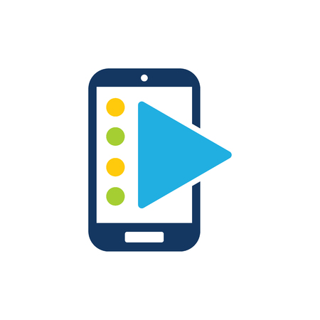 Mobile Video Logo Icon Design
